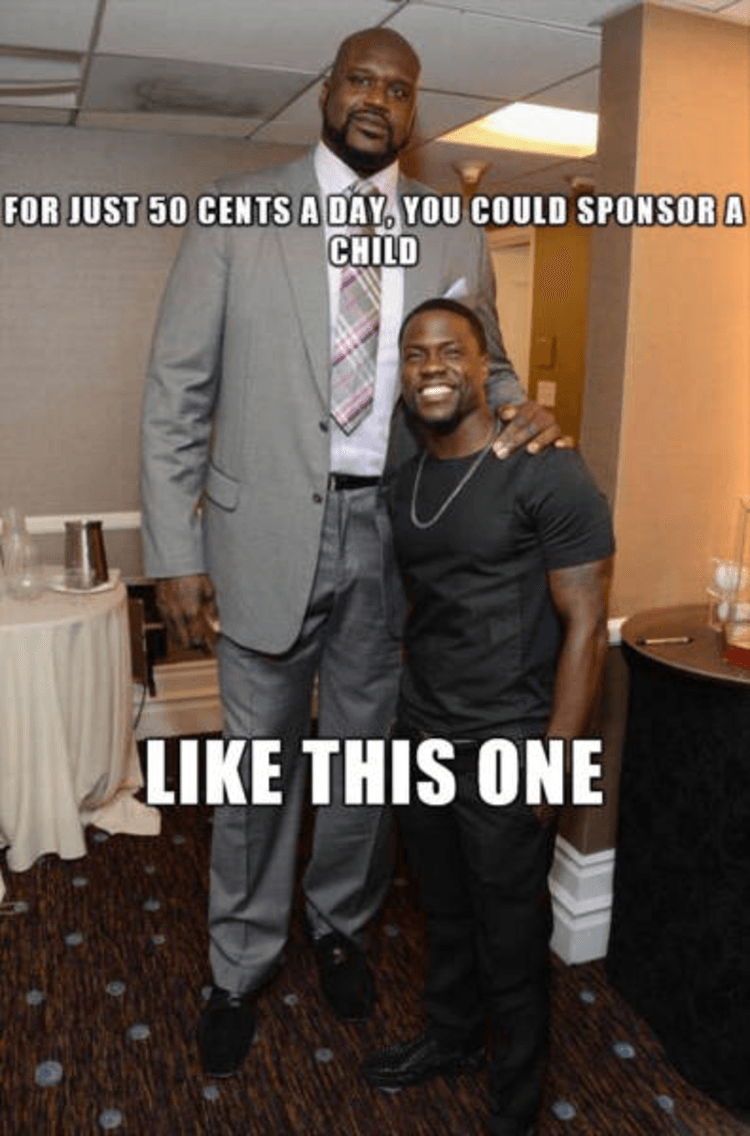 Kevin Hart really is dick high to Shaq | Owned.com