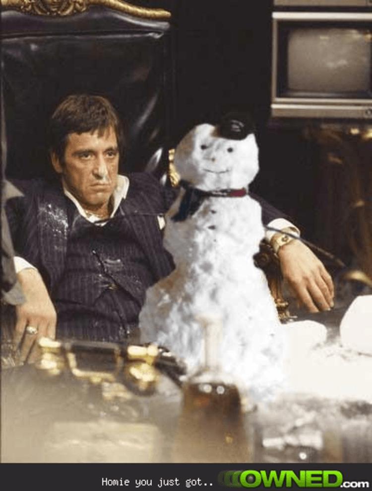 Tony Montana S Snowman Owned Com