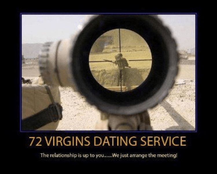 72 virgins dating service poster