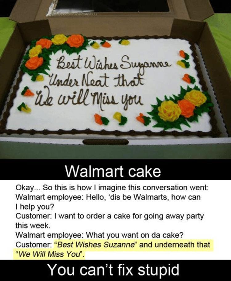 Custom Cake From Wal Mart